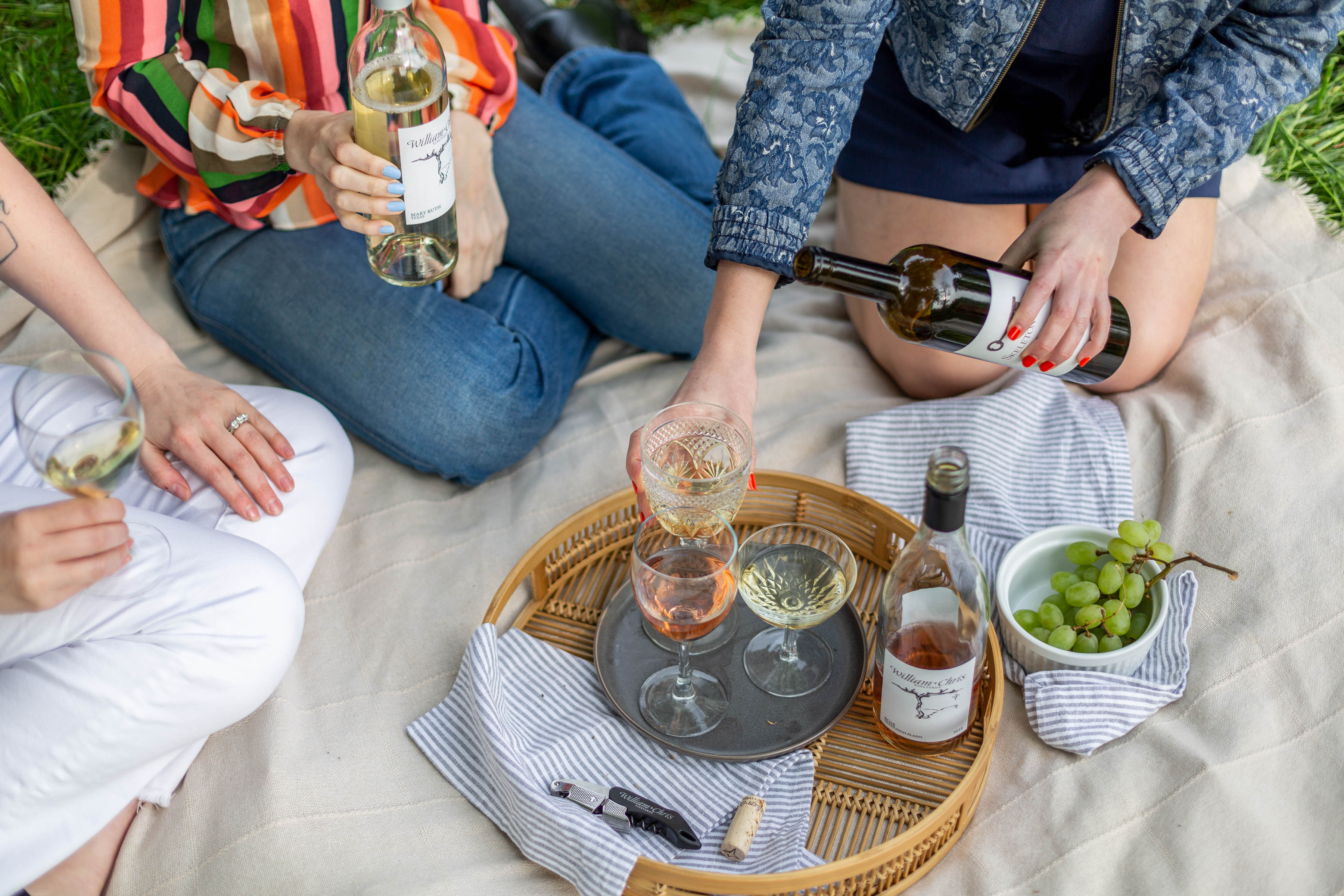 Spring Wines from William Chris Vineyards; Picnic