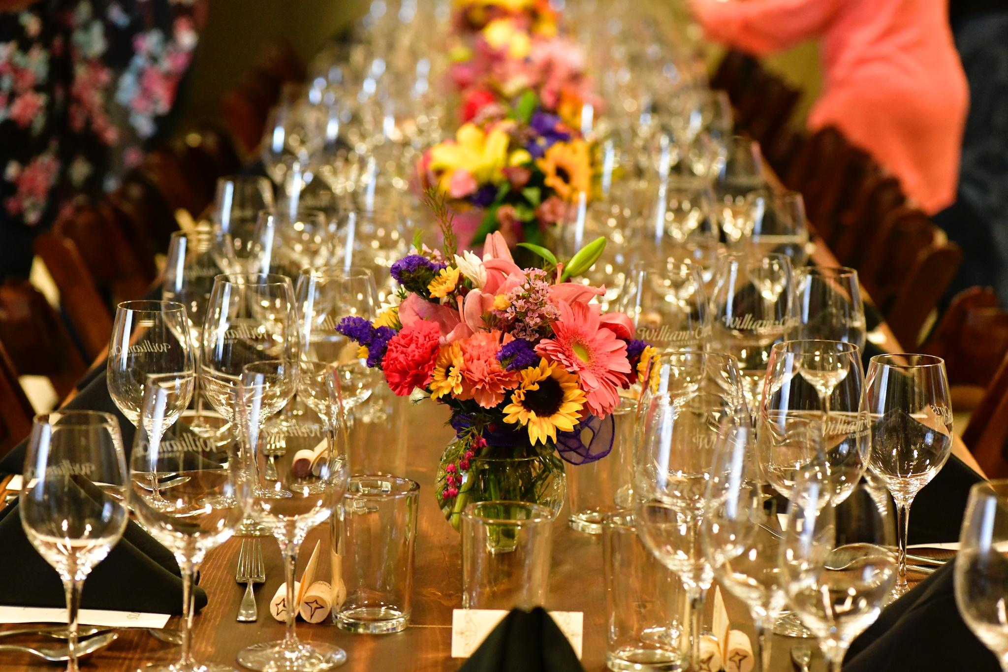 William Chris Vineyards Wine Dinner Table Setting